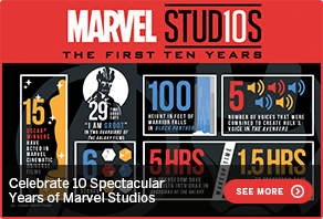 Celebrate 10 Spectacular Years of Marvel Studios SEE MORE